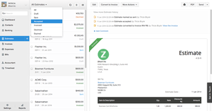 Screenshot #3 of Zoho Books (Zoho Books - Estimate Status)