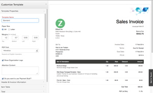 Screenshot #8 of Zoho Books (Zoho Books - Customize Invoice)