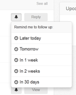 "Screenshot of Nimble (Set reminders ""on the fly"" for greater speed and productivity.)"