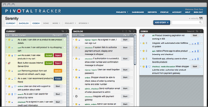 Screenshot of Pivotal Tracker (Pivotal Tracker)
