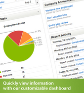 Screenshot #1 of BambooHR (HR Software Dashboard)