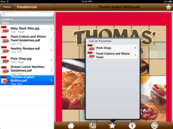 Screenshot of Pigeonholes for iPad (Not Just For Food Companies)