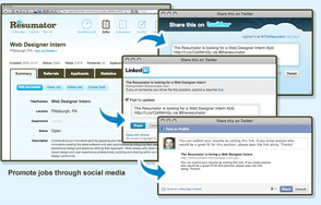 Screenshot #1 of The Resumator (Resumator - Social Recruiting Tools)