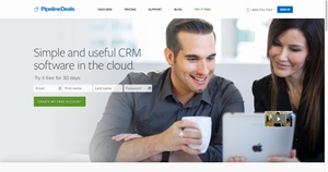 Screenshot #1 of PipelineDeals (PipelineDeals: Simple and useful CRM software in the cloud.)