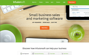 Screenshot of Infusionsoft (Infusionsoft Website Home page)