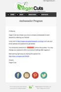 Screenshot of Ambassador (Automated Email (We send these on your behalf!))