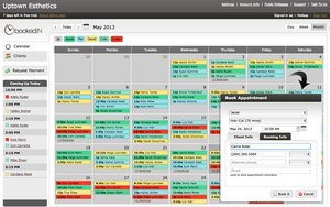 Screenshot of BookedIN (Make bookings anytime, anywhere with your online calendar. )