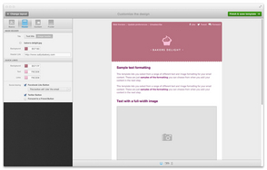 Screenshot of Campaign Monitor (Building an email template in our builder)
