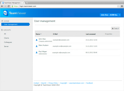 Screenshot of TeamViewer (TeamViewer Management Console)
