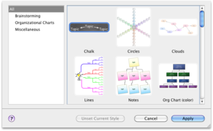 Screenshot of OmniGraffle (diagram styles)