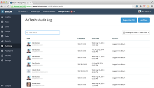 Screenshot #2 of Bitium (Admins can monitor employees' activities through Bitium's Audit Logs )