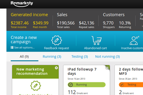 Screenshot #4 of Remarkety (Dashboard)
