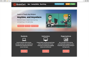 Screenshot of BrainCert (BrainCert is the Easiest Way to Learn, Teach, and Collaborate Online.)