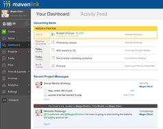 Screenshot #13 of Mavenlink (Mavenlink Premier Dashboard)
