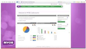Screenshot of MYOB ()