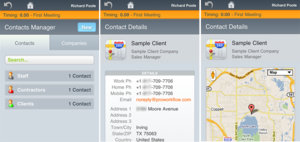 ProWorkflow Mobile Contacts