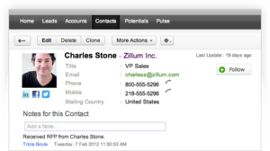 Screenshot #2 of Zoho CRM ()