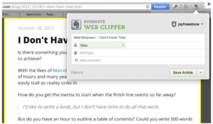 Screenshot #3 of Evernote ()
