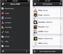 Zoho CRM also for iPhone
