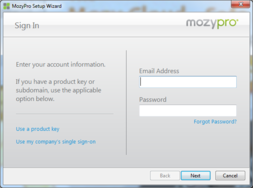 Screenshot #3 of MozyPro Cloud Backup (MozyPro Client Software)