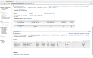 Screenshot #1 of MozyPro Cloud Backup (Web-based Admin Console)