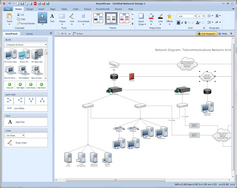 Screenshot #2 of SmartDraw (SmartDraw Network Diagram)
